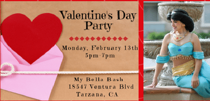 Valentine's Party at My Bella Bash
