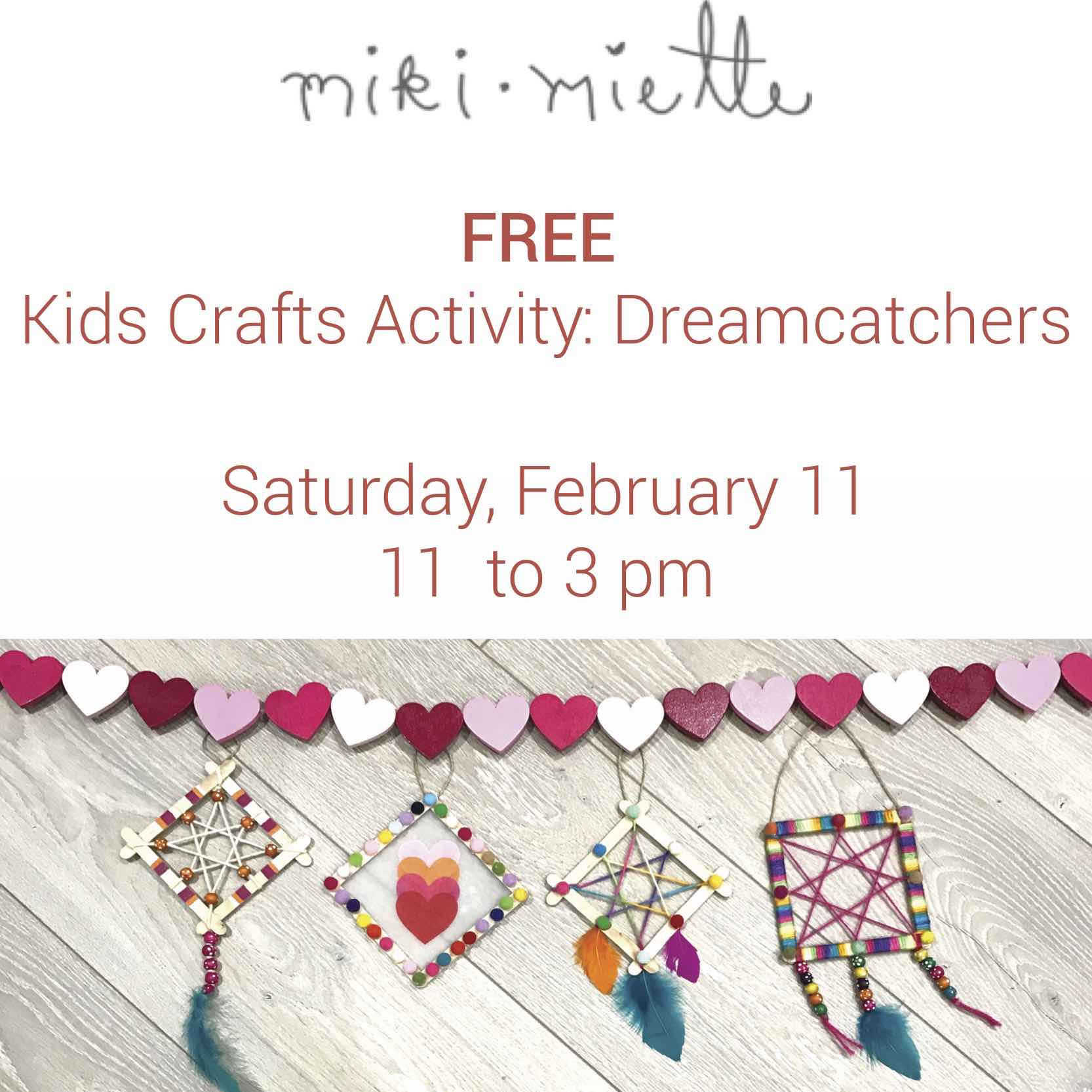 Miki Miette Flagship Store's Free Kids Craft Activity