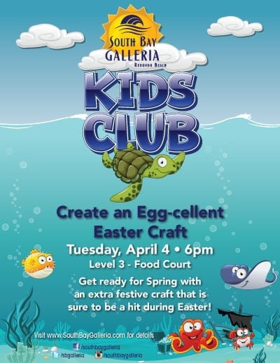 South Bay Galleria Kids Club Egg-Cellent Easter Craft