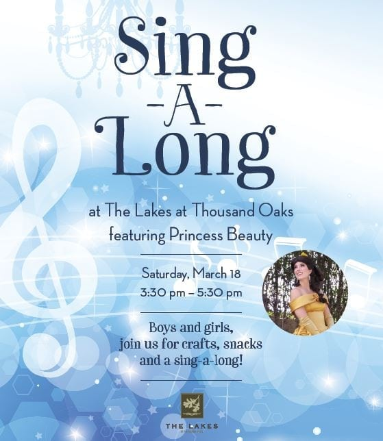 The Lakes at Thousand Oaks Present Sing-A-Long with Princess Beauty