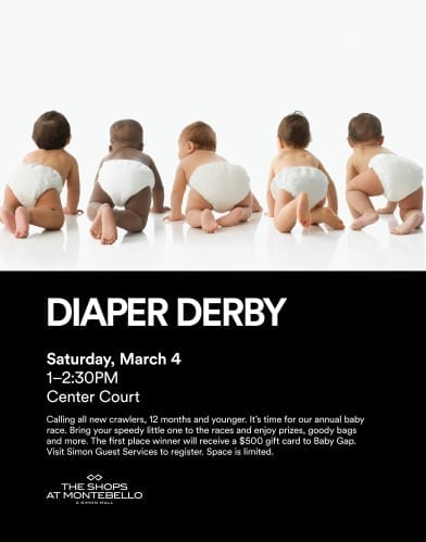 Diaper Derby at The Shops at Montebello