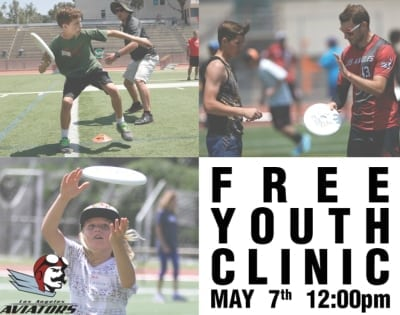 LA Aviators Host A Free Ultimate Disc Youth Clinic