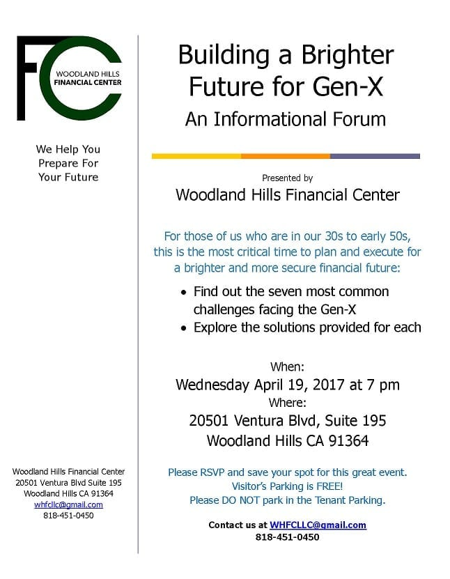 Free Family Financial Forum: Building a Brighter Future for Gen-X