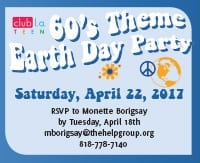 The Help Group's 60s Themed Earth Day Party for Teens