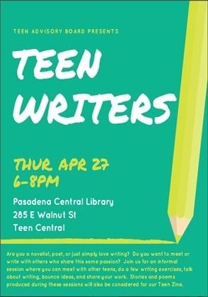 Teen Writers Night