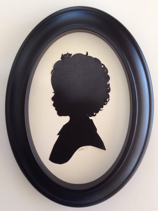 Silhouette Artist Karl Johnson @ Pottery Barn Kids Pasadena