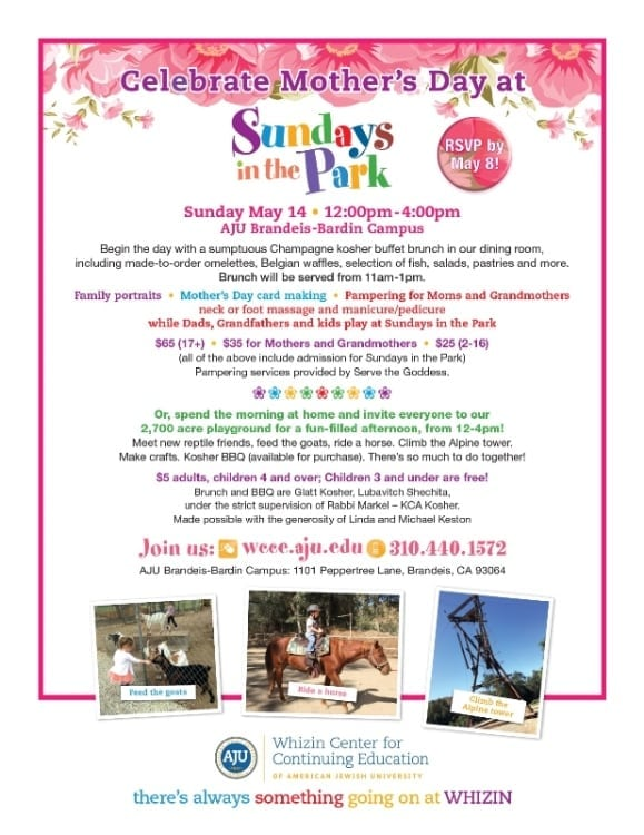Sundays in the Park: Celebrate Mothers' Day
