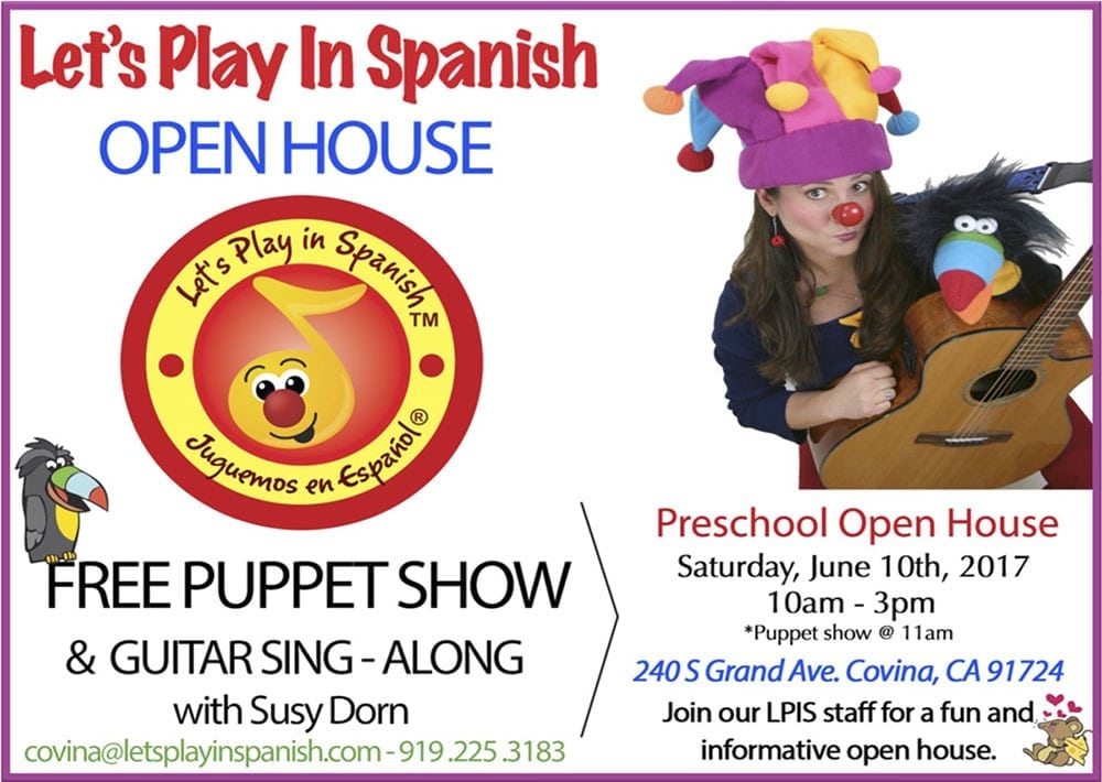 Let's Play in Spanish Open House
