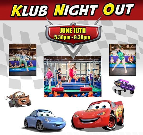 Klub Night Out at The Klub Gymnastics