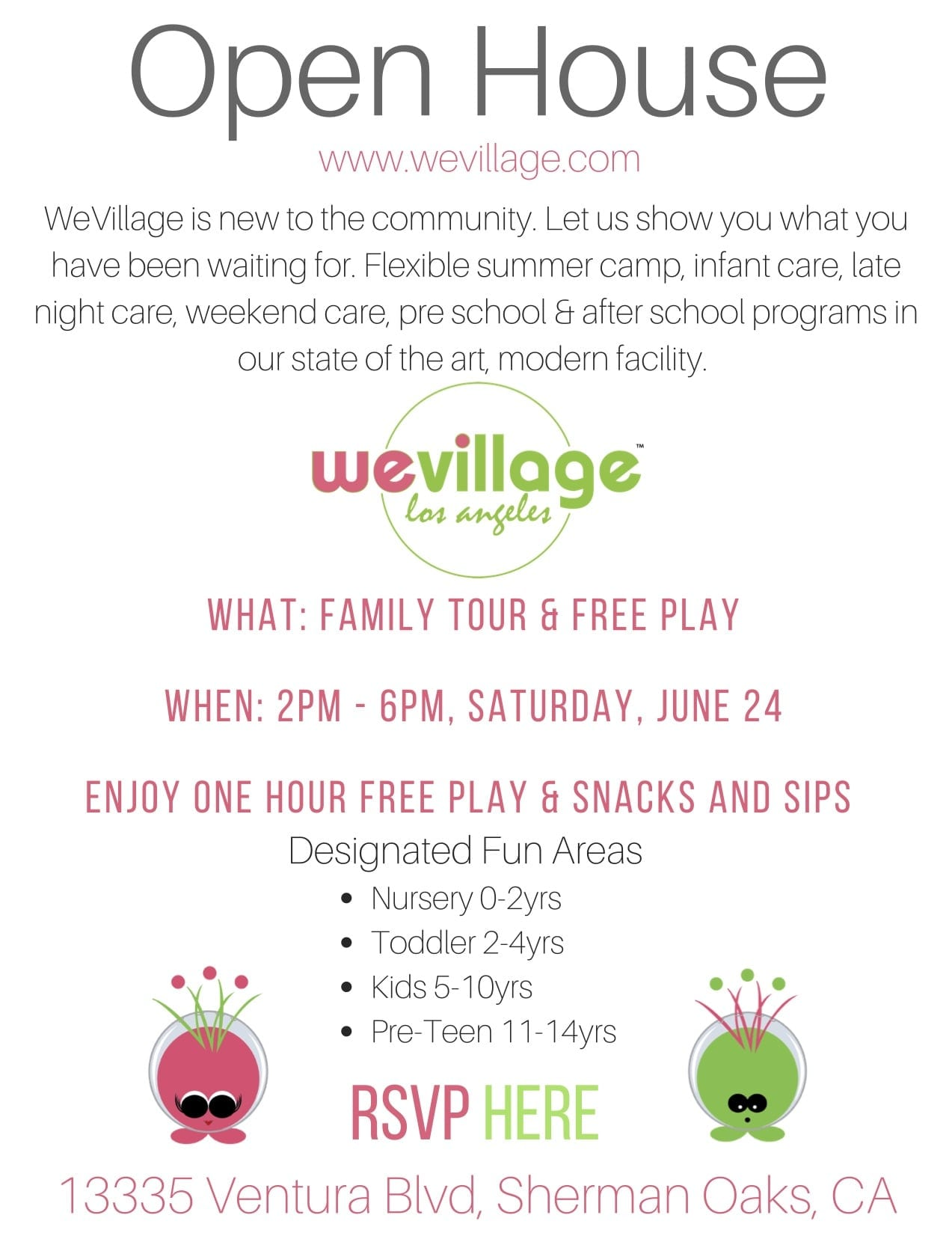 WeVillage Open House Event