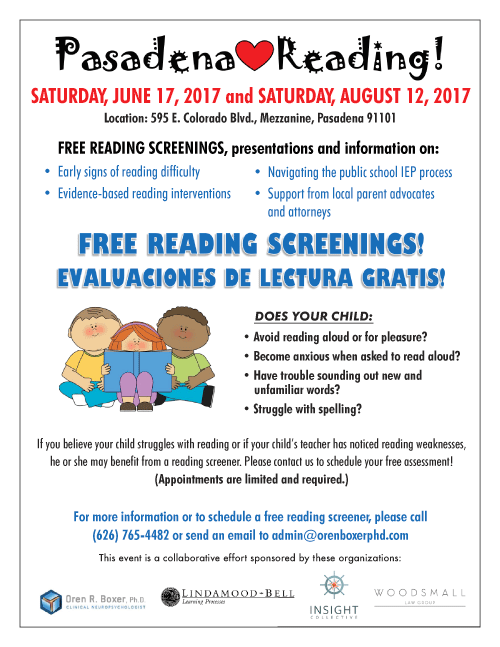 Free Dyslexia Reading Screeners