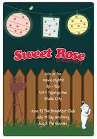 Sweet Rose Creamery's Summer Movie Series