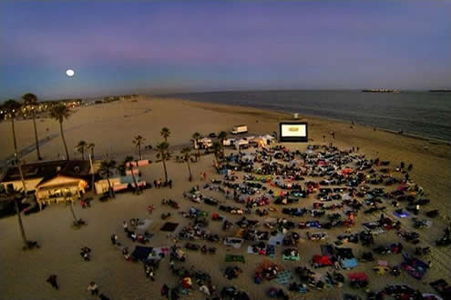 Moonlight Movies on the Beach