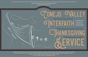 Conejo Valley 41st Annual Interfaith Thanksgiving Service