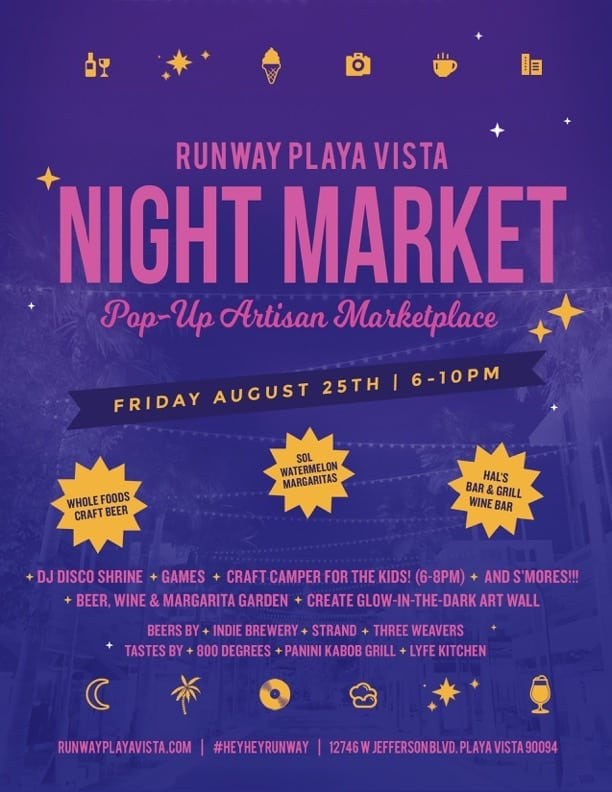 Night Market/Family Fun at Runway Playa Vista