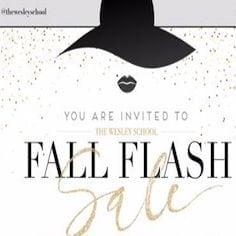 Wesley School Fall Flash Sale