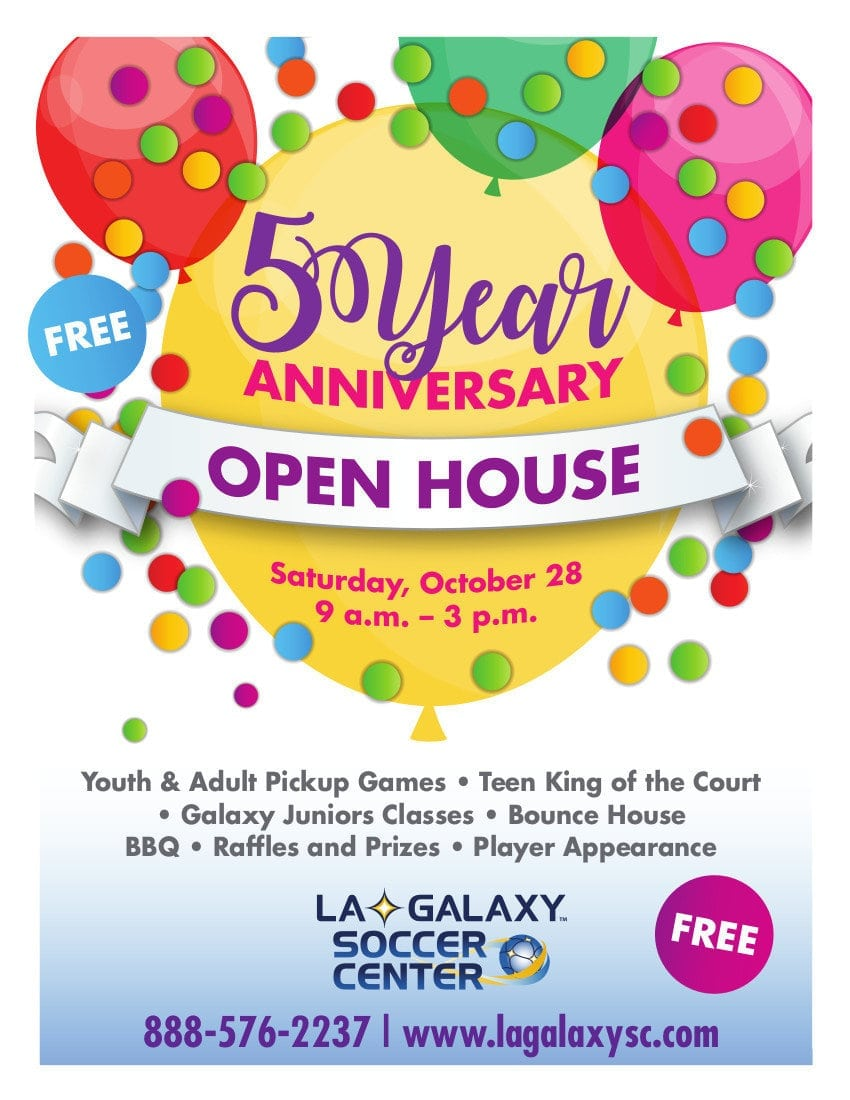 L.A. Galaxy Soccer Center's 5 Year Anniversary Open House
