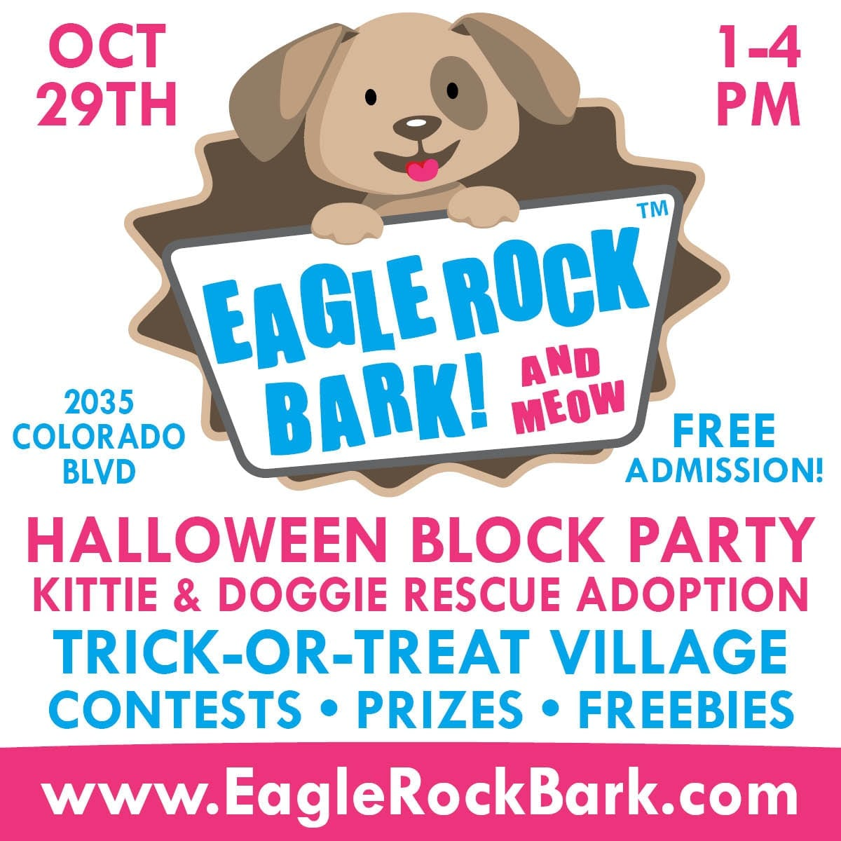 Eagle Rock Bark Halloween Party and Pet Rescue Adoption
