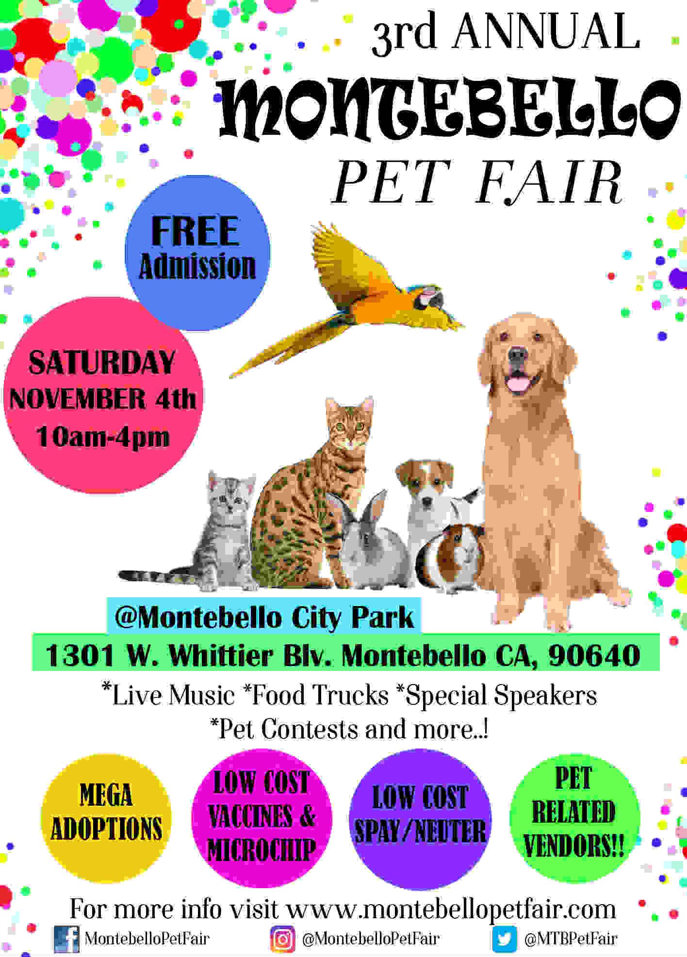 3rd Annual Montebello Pet Fair