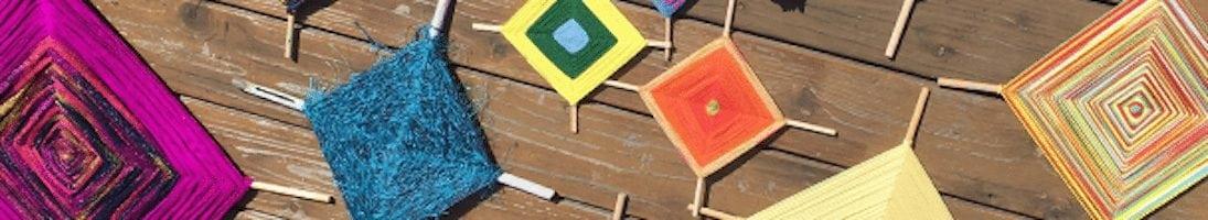 A CraftLab Workshop: God's Eye Yarn Weaving