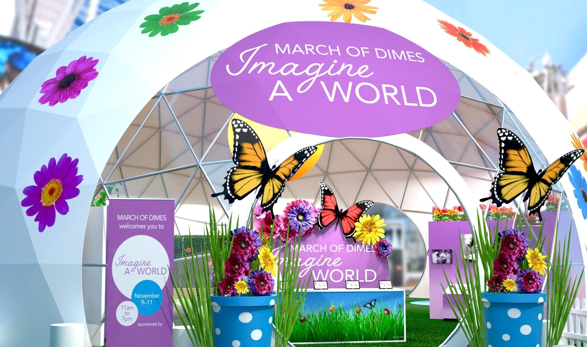 March of Dimes' Imagine A World Pop-Up Experience