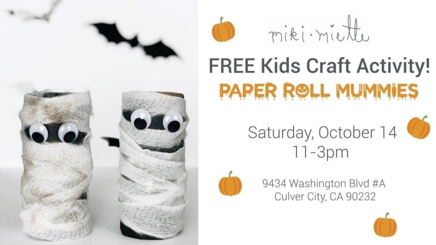 Free Kids Craft Activity: Paper Roll Mummy