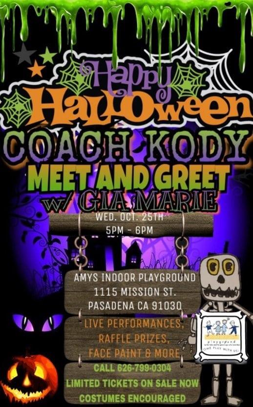 Happy Halloween: Coach Kody Meet and Greet