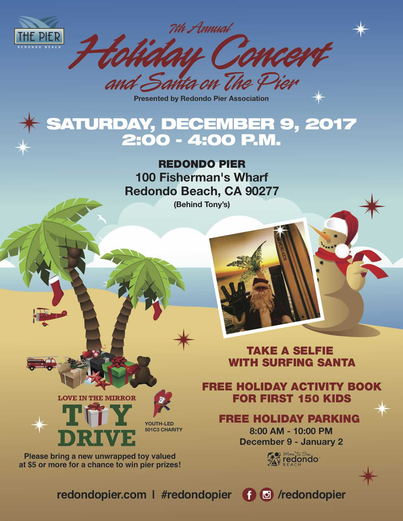 The Redondo Pier's 7th Annual Holiday Concert and Santa