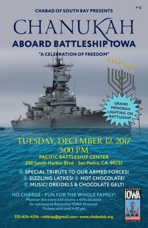Chanukah Aboard USS Iowa
