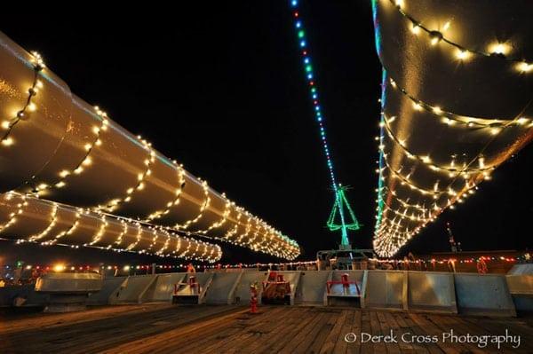 U.S.S IOWA's Holiday Boat Parade Celebration