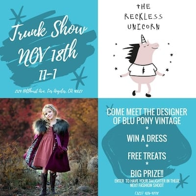 Blu Pony Vintage Holiday Event