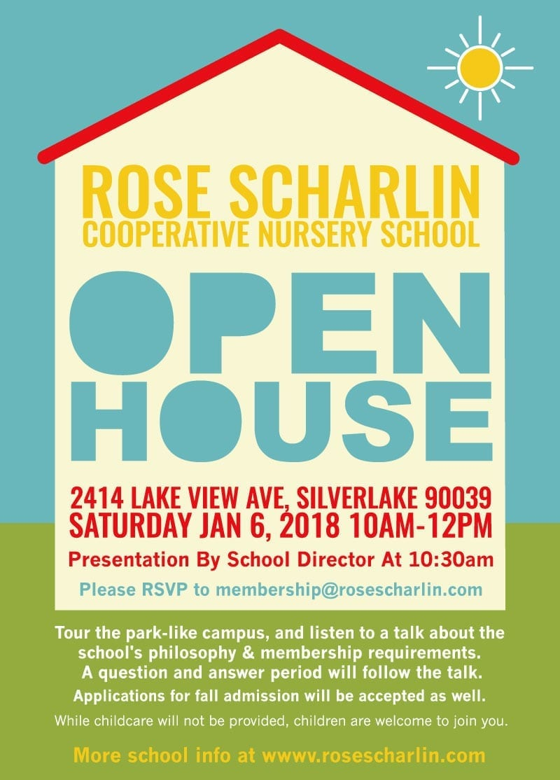 Rose Scharlin Open House