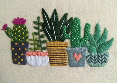 The Huntington's Cactus Embroidery Workshop