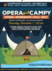"""CSArts-San Gabriel Valley Vocal Arts' Opera Workshop """"Opera Gets Campy"""""""