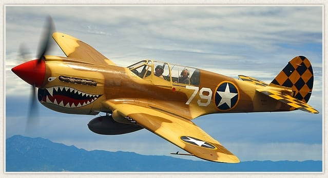 Living History Flying Day: P-40 Warhawk