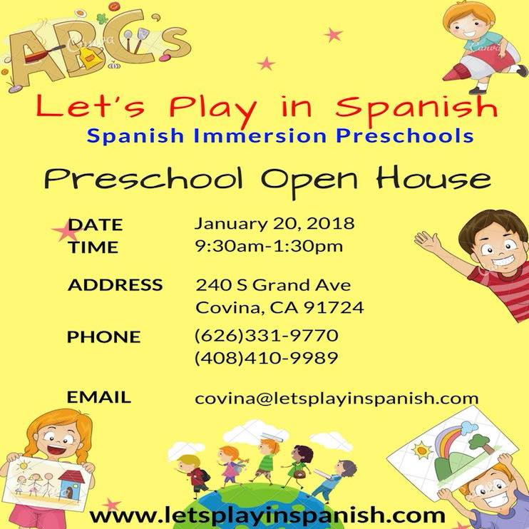 Let's Play in Spanish Preschool Open House