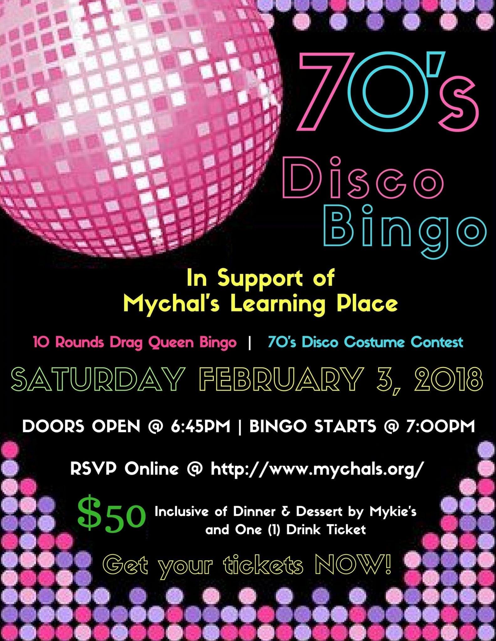 70s Disco Legendary Bingo
