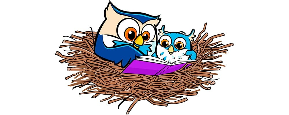 Little Owls Reading Nest