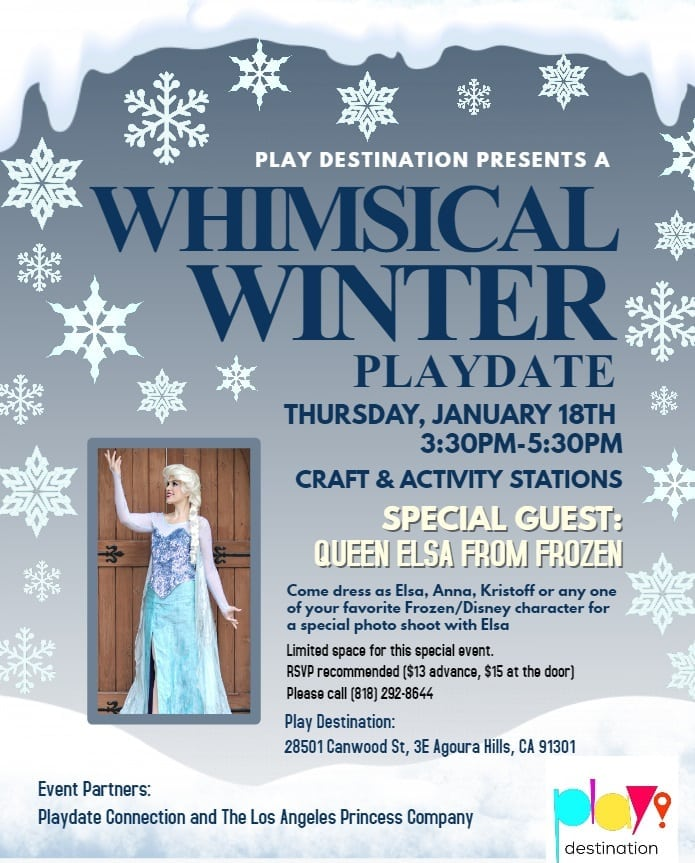 Whimsical Winter Playdate with Queen Elsa