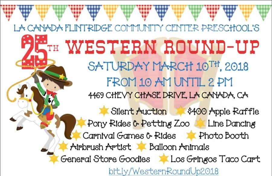 La Cañada Flintridge Community Center Preschool's 25th Annual Western Round-up