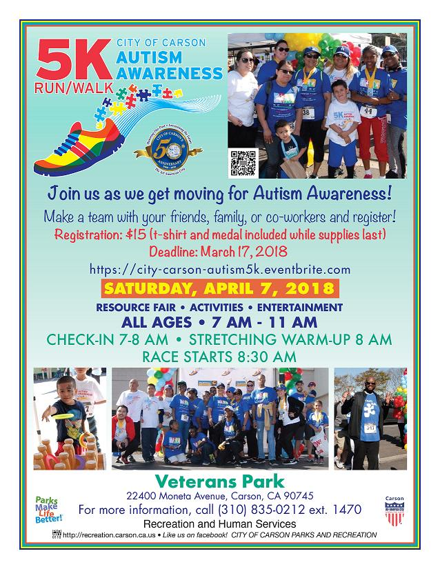 City of Carson Autism Awareness Day & 5K Run/Walk 2018