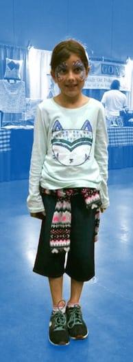 Child wearing sensory broadshorts