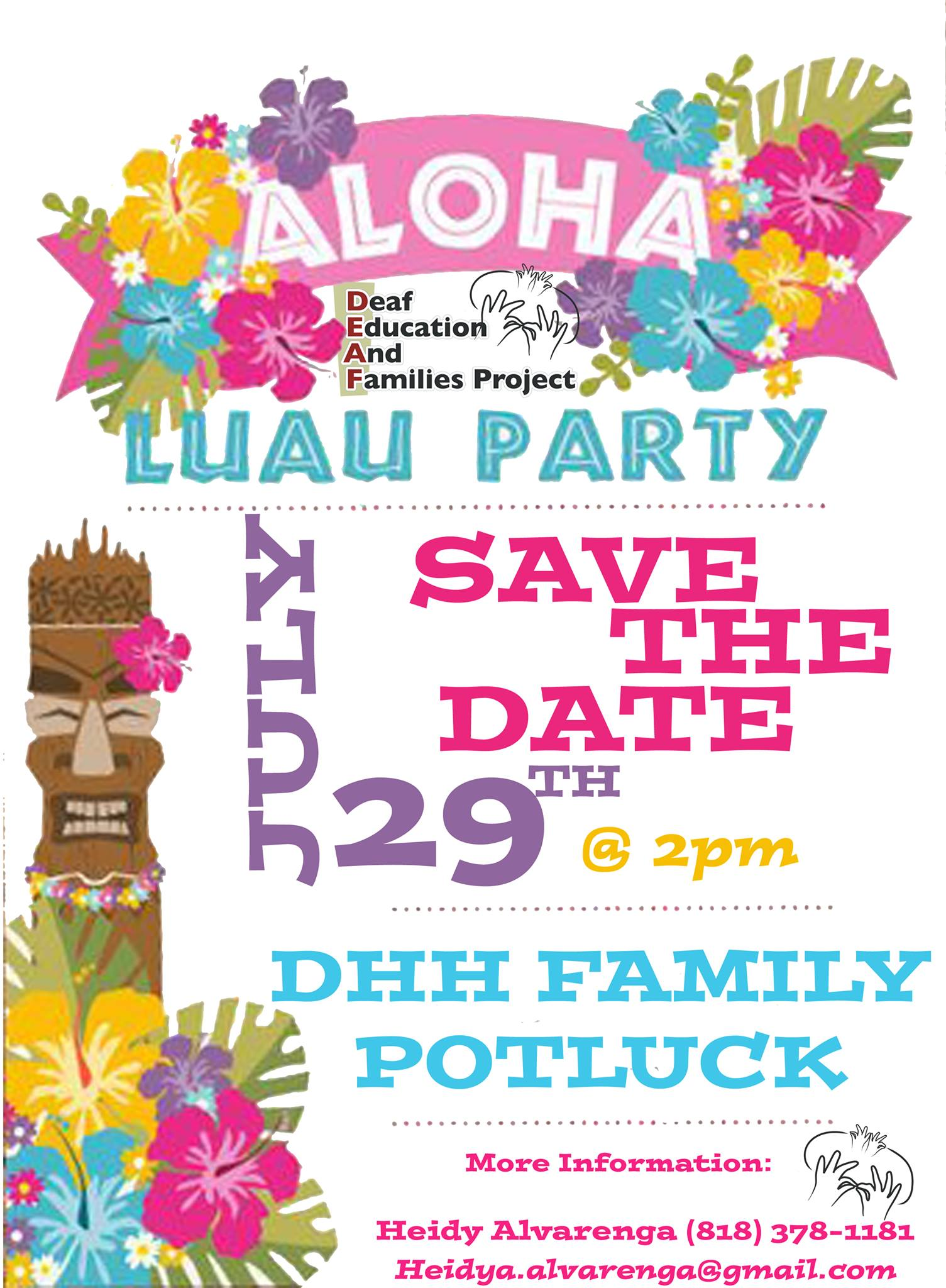Deaf and Hard of Hearing Family Potluck and Luau