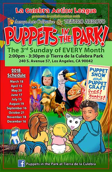 Puppets in the Park at Tierra de la Culebra