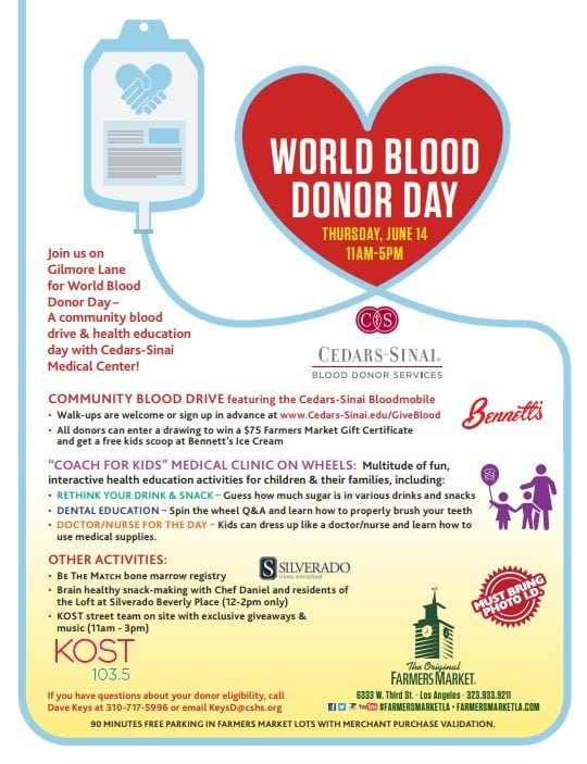 World Blood Donor Day at The Original Farmers Market
