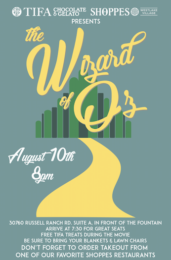 Free Outdoor Movie Night Featuring The Wizard of Oz