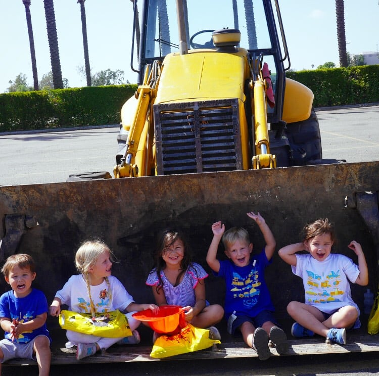 Touch-A-Truck Month at the Southern California Children's Museum