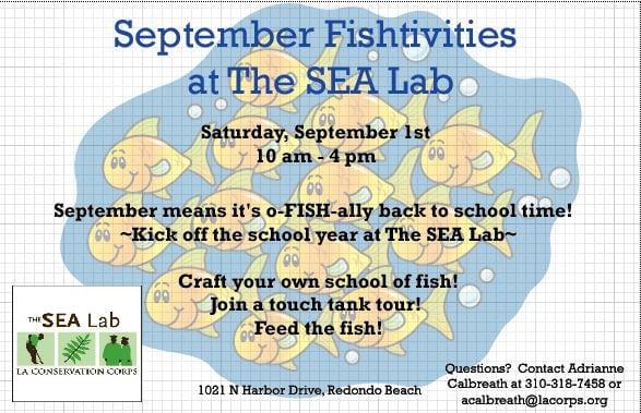 September Fishtivities at The SEA Lab