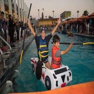 cardboard yacht race
