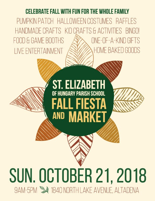 Saint Elizabeth School Fall Fiesta and Market